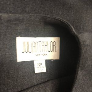 Julian Taylor Dresses - Julian Taylor Dark Gray Sleeveless Sheath Dress